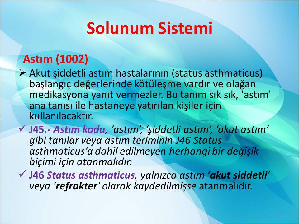 Solunum Sistemi Astım (1002)