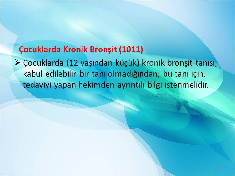 Çocuklarda Kronik Bronşit (1011)