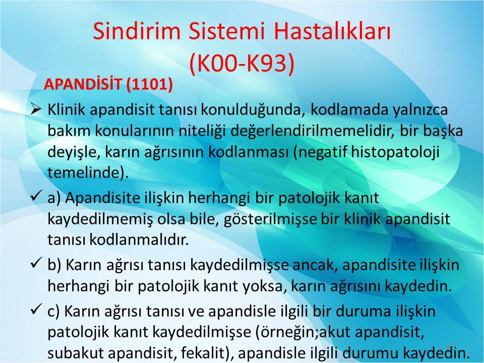 Sindirim Sistemi Hastalıkları (K00-K93)