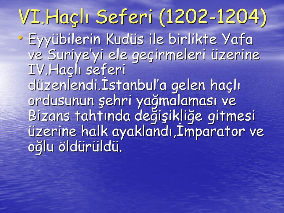 VI.Haçlı Seferi (1202-1204)
