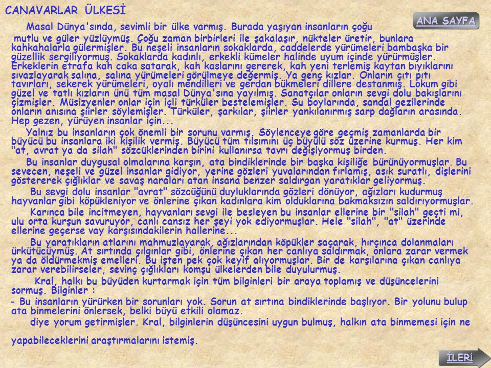 CANAVARLAR ÜLKESİ ANA SAYFA