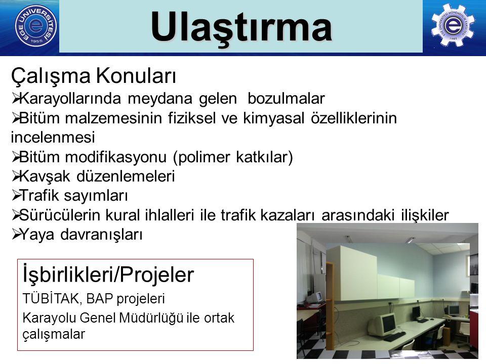 Ulaştırma Çalışma Konuları İşbirlikleri/Projeler