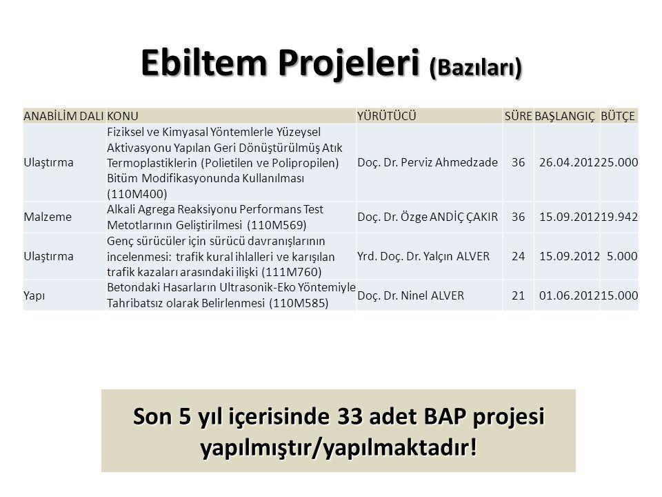 Ebiltem Projeleri (Bazıları)