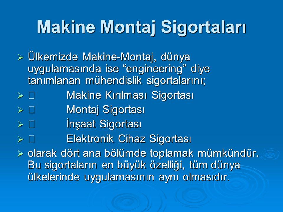 Makine Montaj Sigortaları