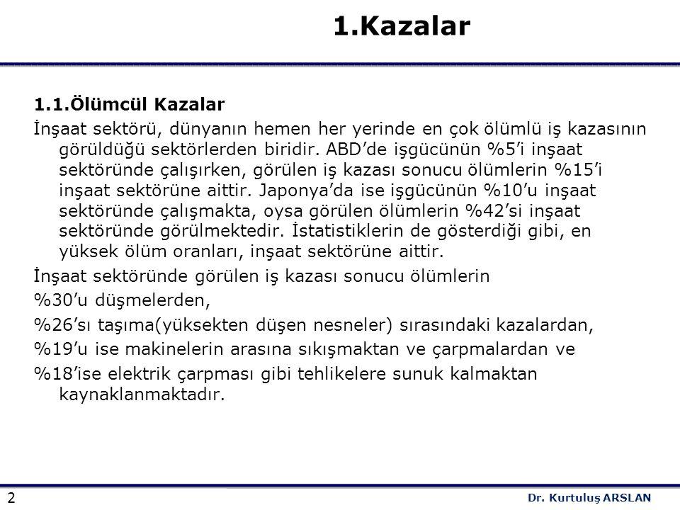 1.Kazalar