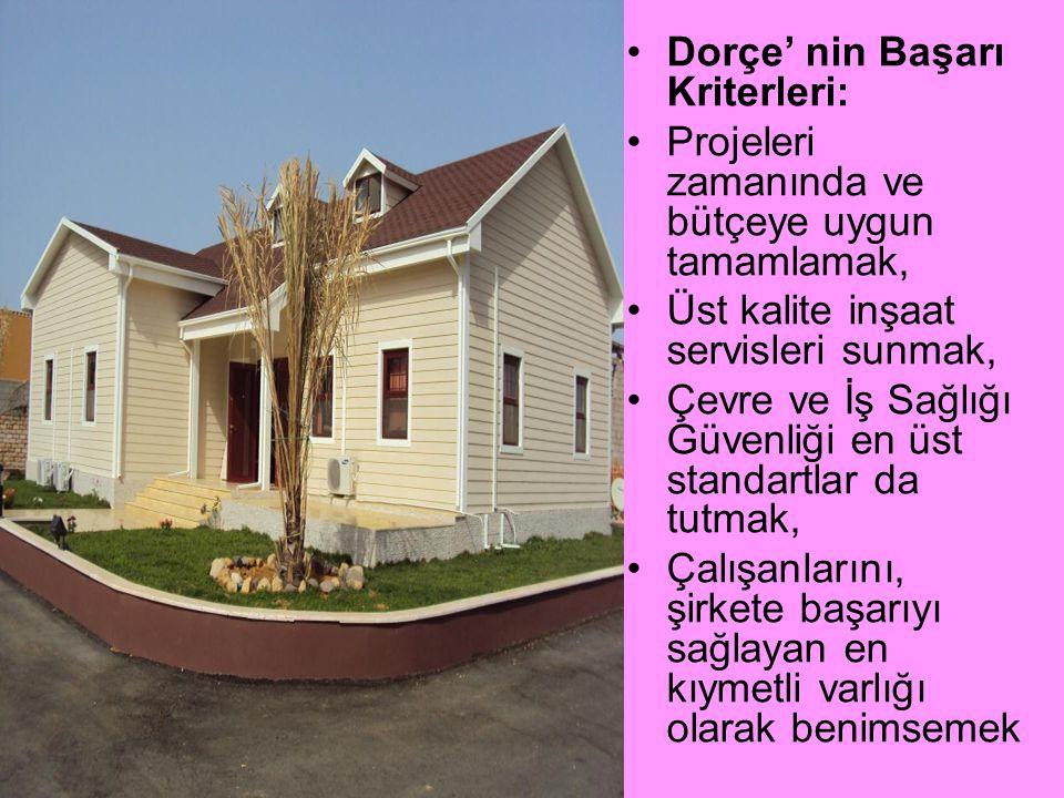 Dorçe' nin Başarı Kriterleri: