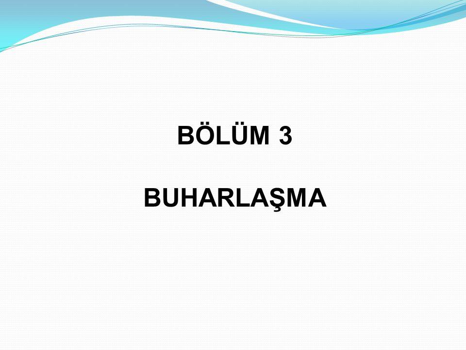 BÖLÜM 3 BUHARLAŞMA
