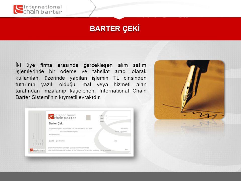 BARTER ÇEKİ
