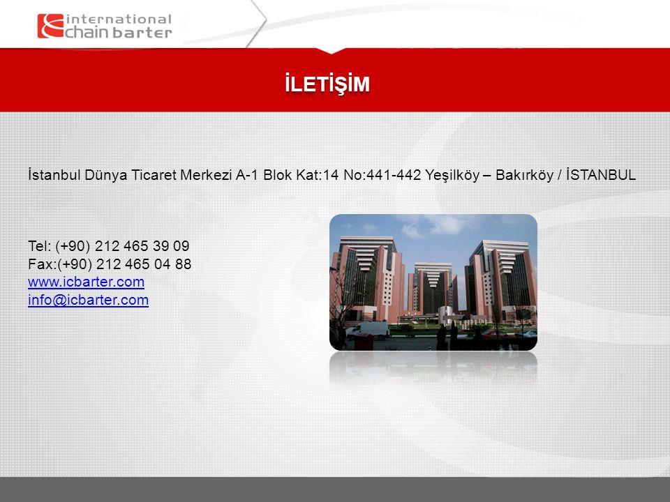 İLETİŞİM İstanbul Dünya Ticaret Merkezi A-1 Blok Kat:14 No:441-442 Yeşilköy – Bakırköy / İSTANBUL. Tel: (+90) 212 465 39 09.