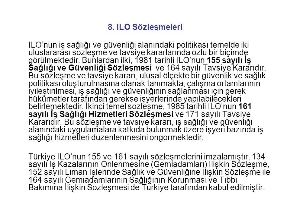 8. ILO Sözleşmeleri