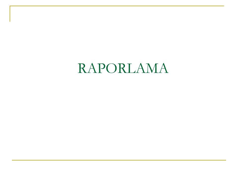 RAPORLAMA ULUSAL FON 21