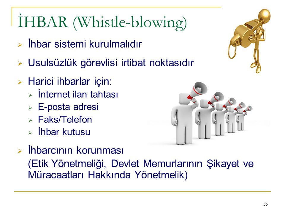 İHBAR (Whistle-blowing)