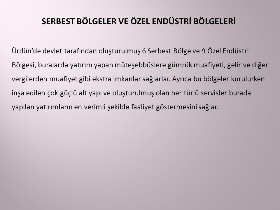 SERBEST BÖLGELER VE ÖZEL ENDÜSTRİ BÖLGELERİ