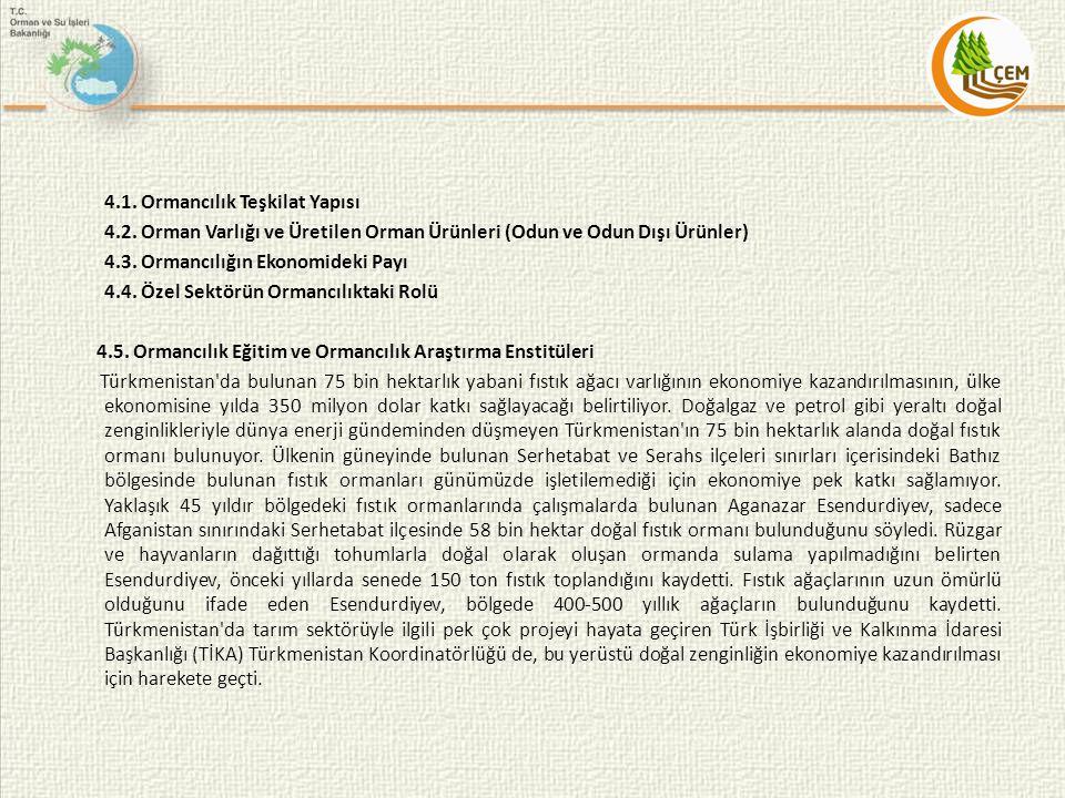 4. 1. Ormancılık Teşkilat Yapısı 4. 2