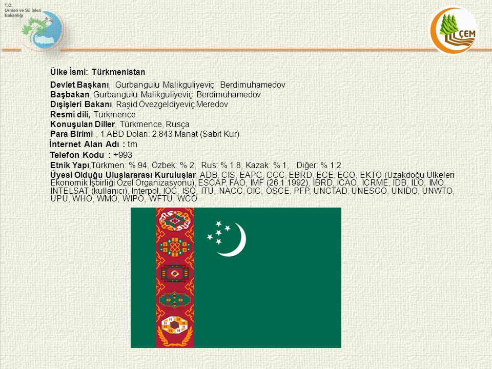 Ülke İsmi: Türkmenistan