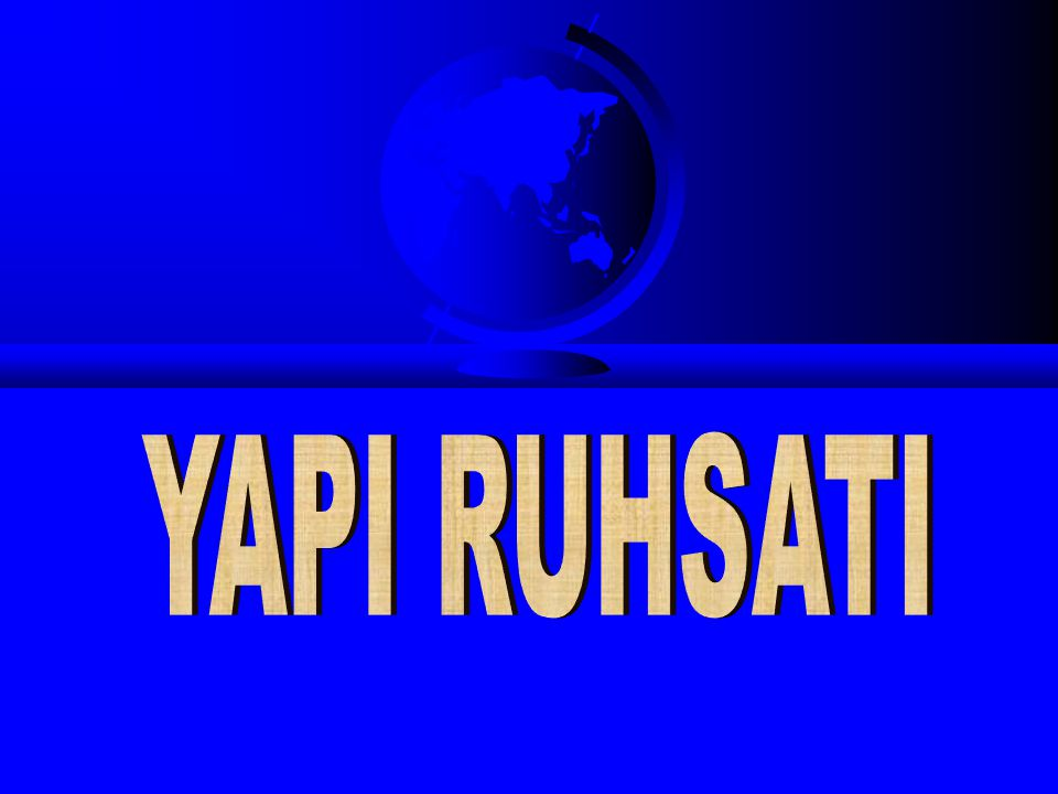 YAPI RUHSATI