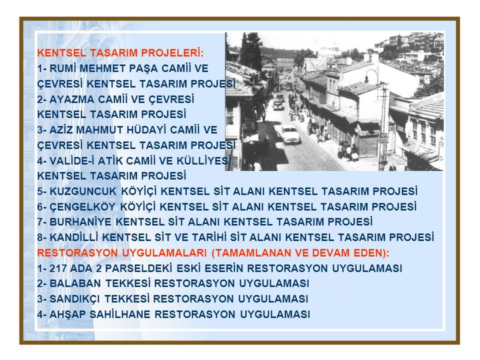 KENTSEL TASARIM PROJELERİ: