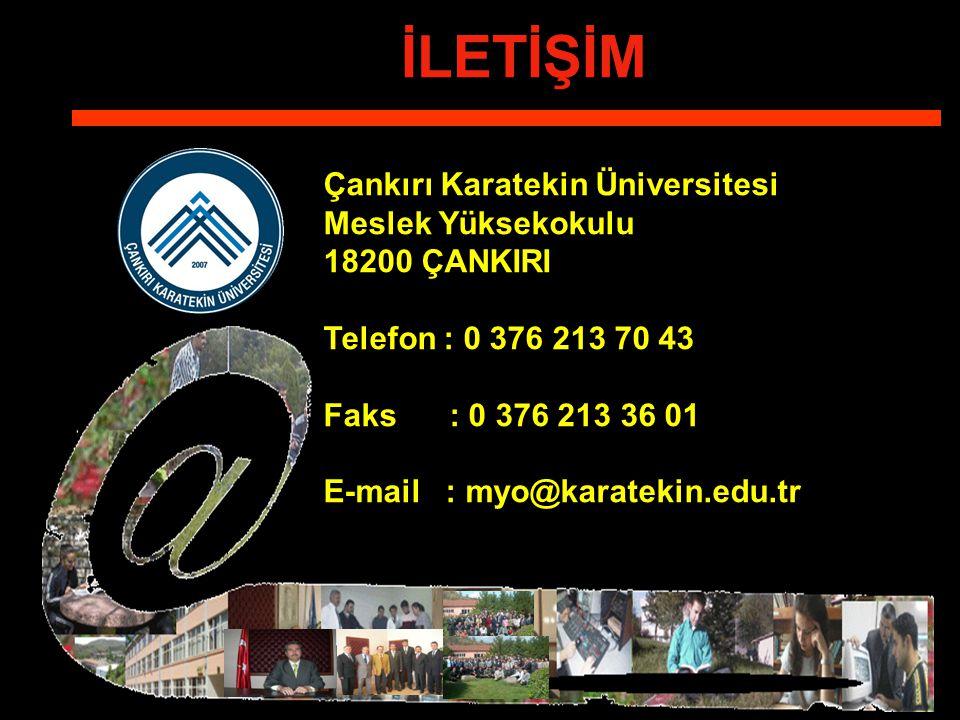İLETİŞİM Çankırı Karatekin Üniversitesi Meslek Yüksekokulu