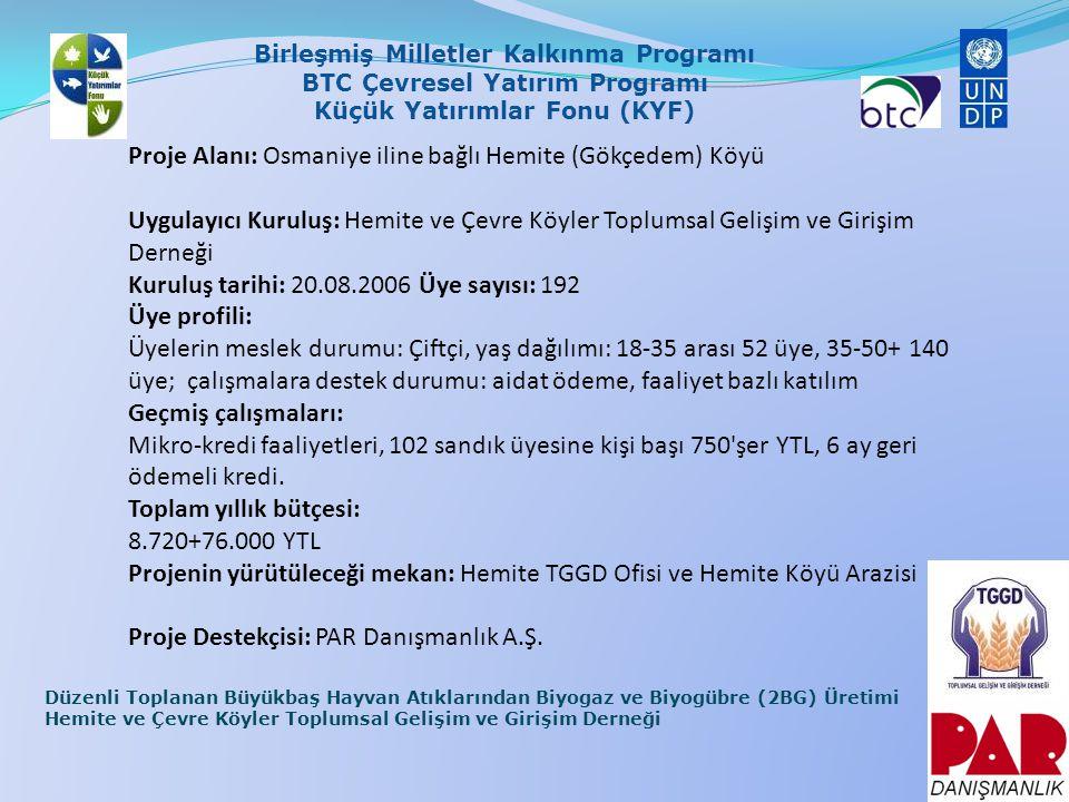 Proje Alanı: Osmaniye iline bağlı Hemite (Gökçedem) Köyü