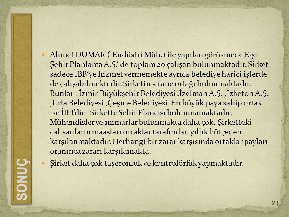 Ahmet DUMAR ( Endüstri Müh