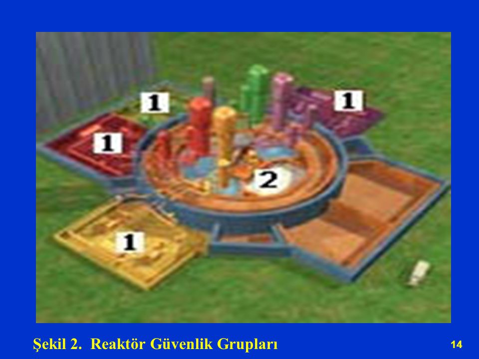 Şekil 2. Reaktör Güvenlik Grupları