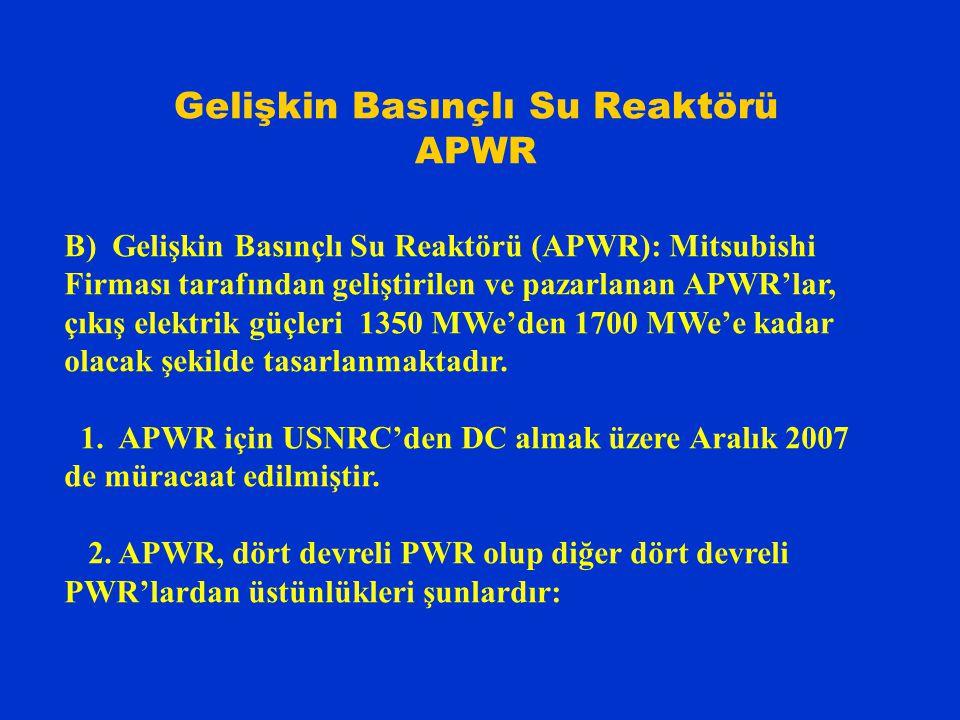 Gelişkin Basınçlı Su Reaktörü APWR