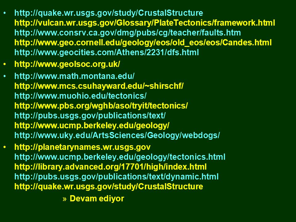 http://quake. wr. usgs. gov/study/CrustalStructure http://vulcan. wr