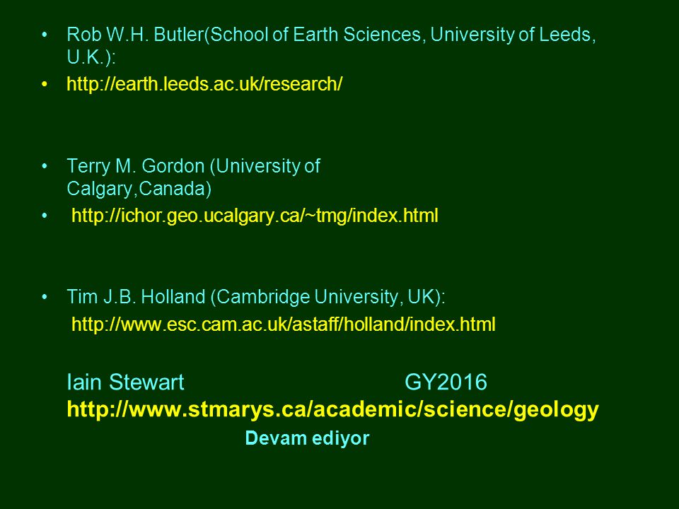 Iain Stewart GY2016 http://www.stmarys.ca/academic/science/geology