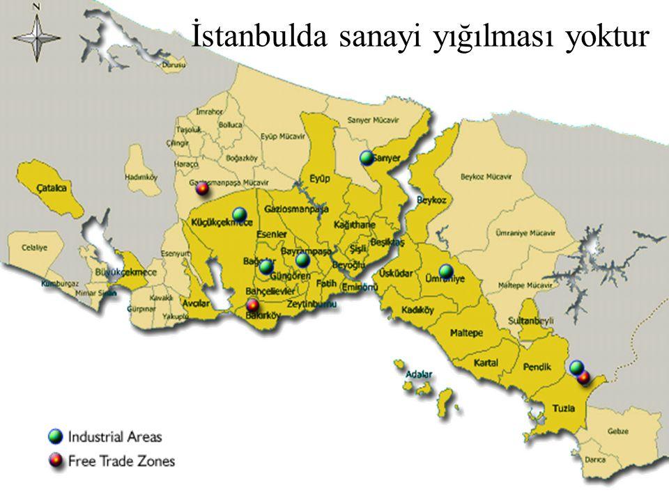 İstanbulda sanayi yığılması yoktur