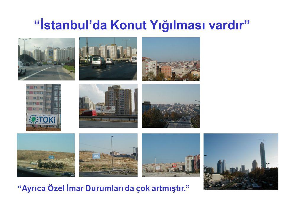 İstanbul'da Konut Yığılması vardır
