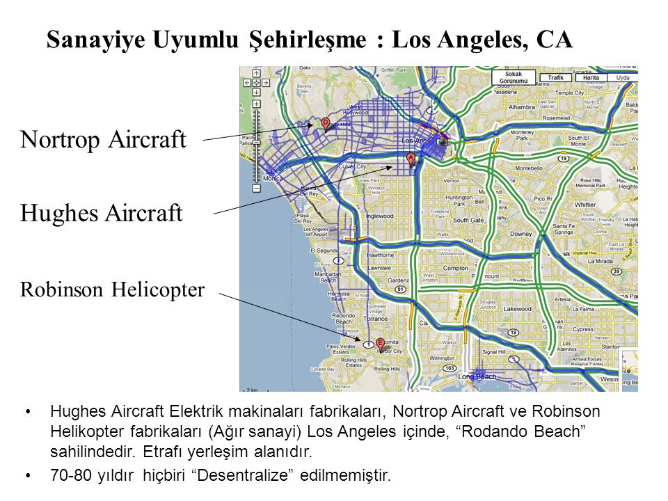 Sanayiye Uyumlu Şehirleşme : Los Angeles, CA