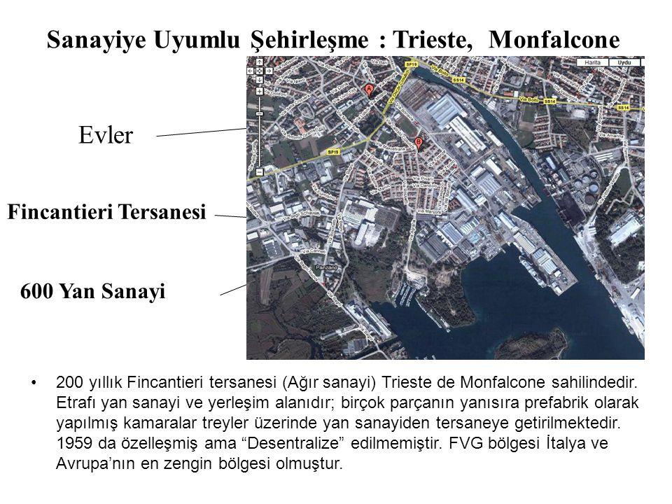 Sanayiye Uyumlu Şehirleşme : Trieste, Monfalcone