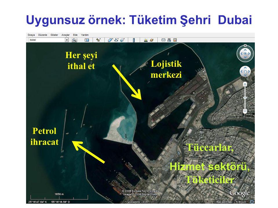 Uygunsuz örnek: Tüketim Şehri Dubai Hizmet sektörü, Tüketiciler