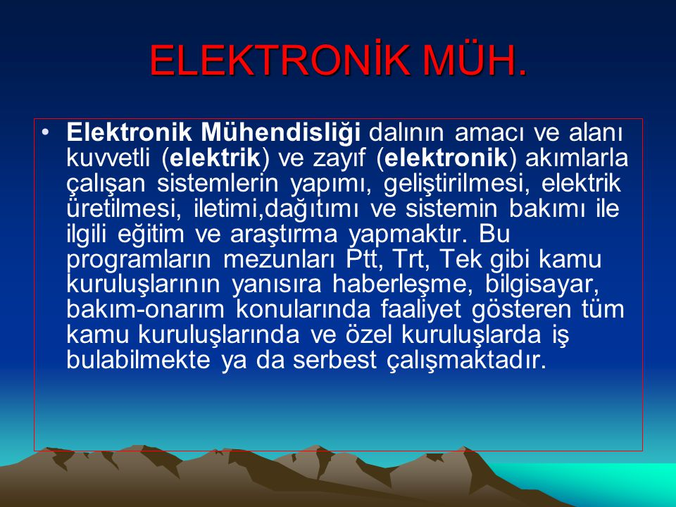 ELEKTRONİK MÜH.