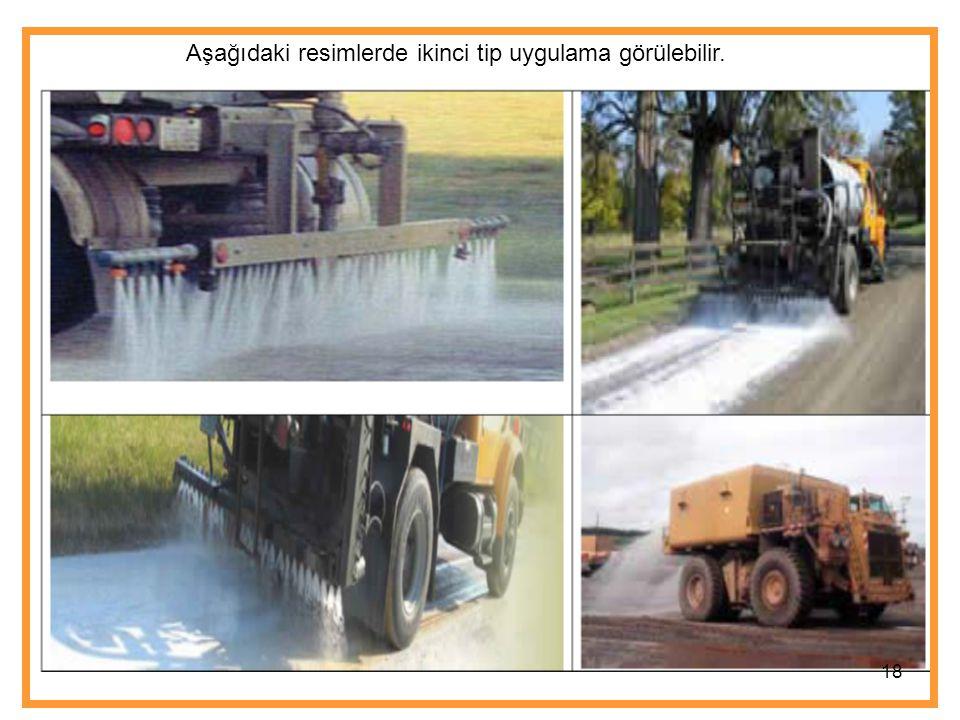 Aşağıdaki resimlerde ikinci tip uygulama görülebilir.