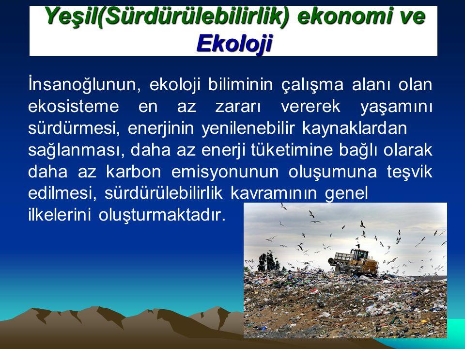 Yeşil(Sürdürülebilirlik) ekonomi ve Ekoloji