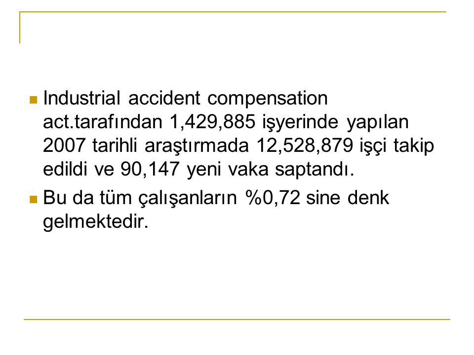 Industrial accident compensation act