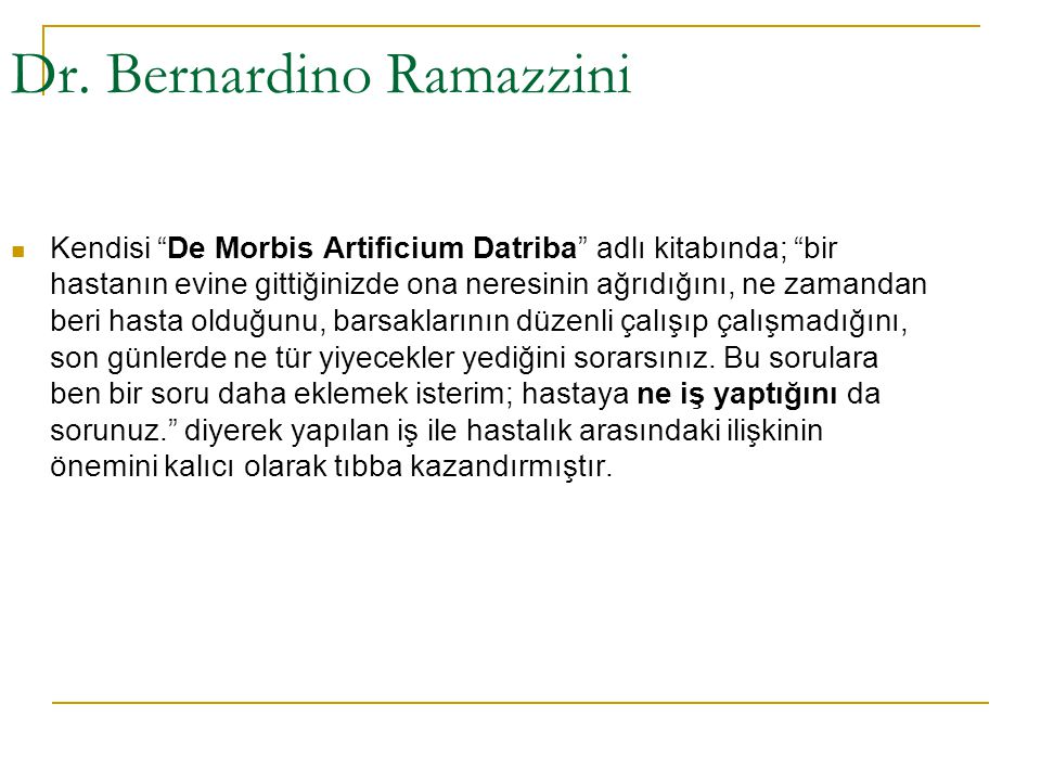 Dr. Bernardino Ramazzini
