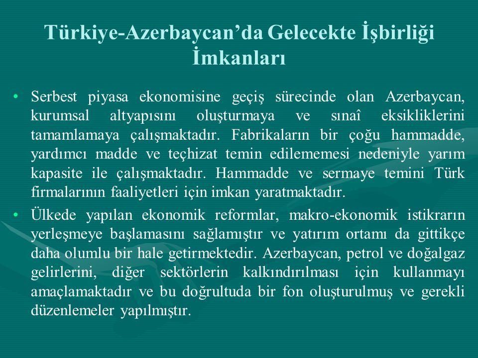 Türkiye-Azerbaycan'da Gelecekte İşbirliği İmkanları
