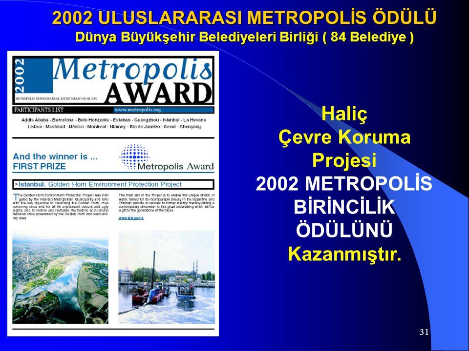 2002 METROPOLİS BİRİNCİLİK ÖDÜLÜNÜ Kazanmıştır.