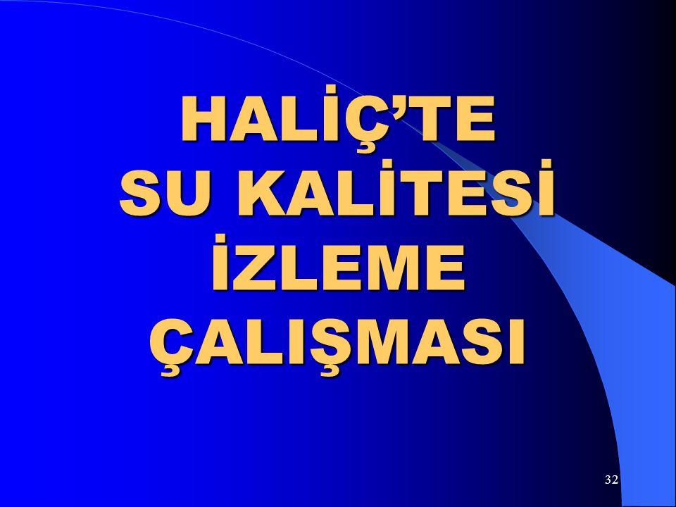 HALİÇ'TE SU KALİTESİ İZLEME ÇALIŞMASI