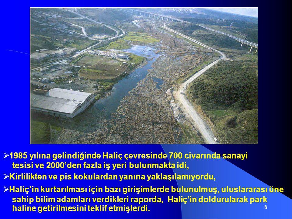 1985 yılına gelindiğinde Haliç çevresinde 700 civarında sanayi