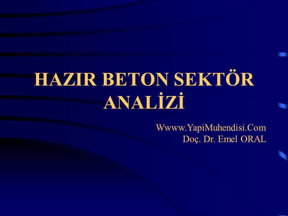 HAZIR BETON SEKTÖR ANALİZİ