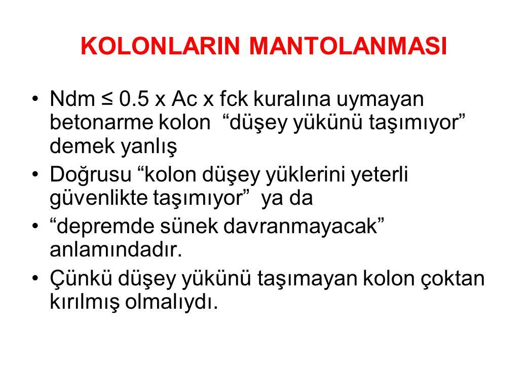 KOLONLARIN MANTOLANMASI