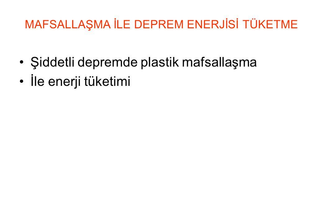 MAFSALLAŞMA İLE DEPREM ENERJİSİ TÜKETME