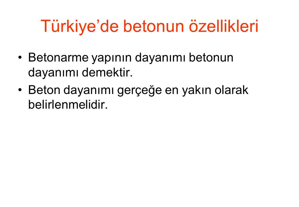 Türkiye'de betonun özellikleri