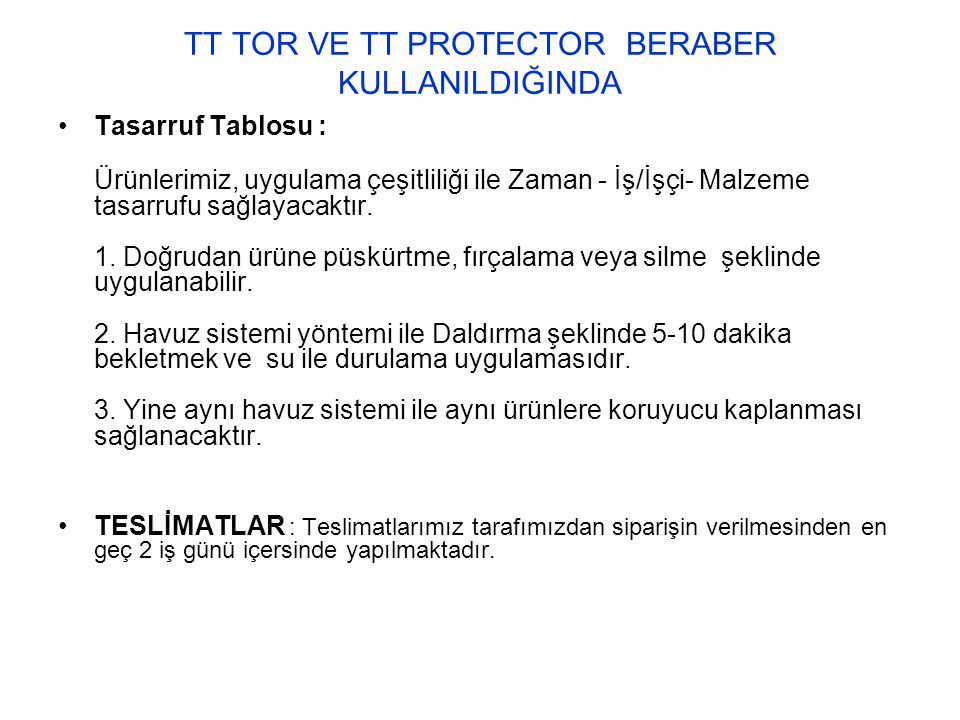 TT TOR VE TT PROTECTOR BERABER KULLANILDIĞINDA