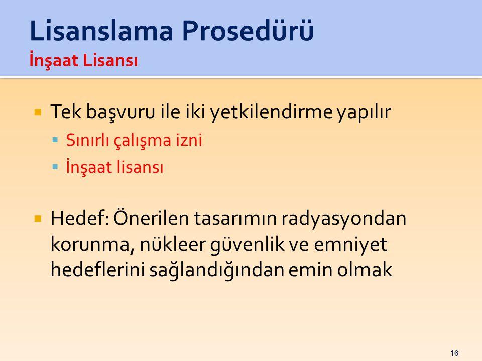 Lisanslama Prosedürü İnşaat Lisansı