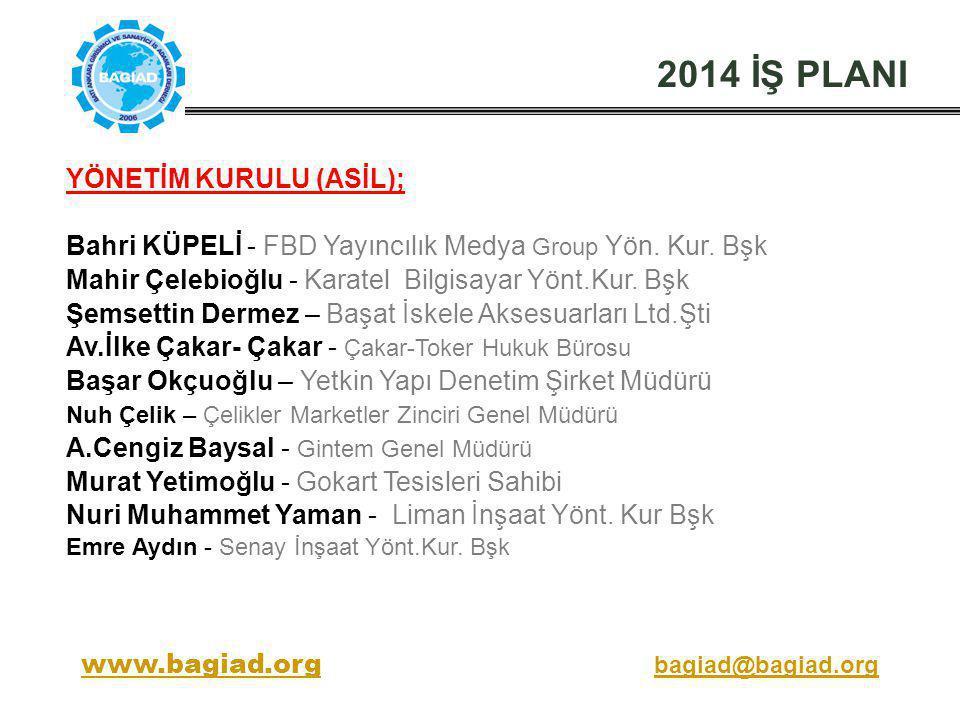 2014 İŞ PLANI YÖNETİM KURULU (ASİL);