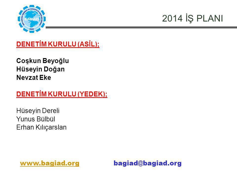 2014 İŞ PLANI DENETİM KURULU (ASİL); Coşkun Beyoğlu Hüseyin Doğan